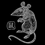 Rat. Chinese Zodiac. Animal astrological sign Royalty Free Stock Photos