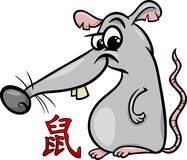 Rat chinese zodiac horoscope sign Royalty Free Stock Image