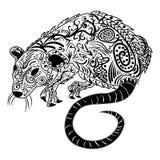 Rat chinese zodiac sign zentangle stylized, vector illustration Stock Photo