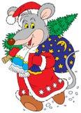 Rat-a-Clause (vector clip-art) Royalty Free Stock Photos