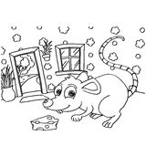 Rat Colouring Pages vector. Image of Rat Colouring Pages vector outline Stock Image