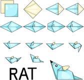 Rat d'origami illustration de vecteur