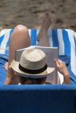 Rat de bibliothèque de plage image libre de droits
