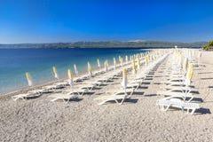 Rat de Zlatni, Bol, île de Brac, Croatie, Dalmatie Photos libres de droits