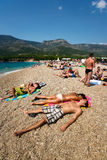 Rat de Zlatni en Croatie Photos libres de droits