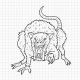 Rat draw Royalty Free Stock Image