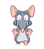 Rat effrayé fonctionnant illustration de vecteur