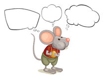 A rat with empty callouts Stock Photography