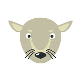 Rat Face Vector Illustration in Flat Design Royalty Free Stock Photography