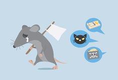 Rat give up Stock Photography