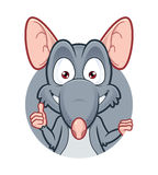 Rat giving thumbs up. Vector clipart picture of a rat giving thumbs up Stock Photography