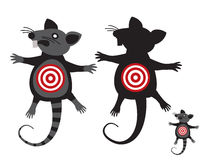 Rat goal. Concept Anti rodent symbol. illustration signs isolated on a white background Stock Photo