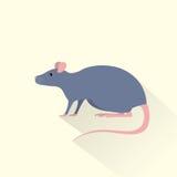 Rat gray mouse icon flat shadow vector Stock Photos