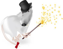 Rat in a hat Stock Photography