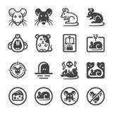 Rat icon set royalty free illustration