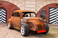 Rat-Look Style Car. An old American car in rat-look style. Saint Petersburg, Russia. Show AutoPhotoCrazy 2017 Stock Images