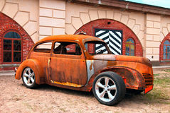 Rat-Look Style Car. An old American car in rat-look style. Saint Petersburg, Russia. Show AutoPhotoCrazy 2017 Stock Image