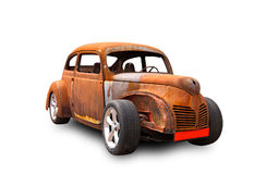 Rat-Look Style Car. An old American car in rat-look styler isolated on white background Stock Images