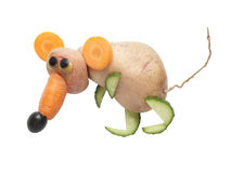 Rat made of vegetables Stock Photos