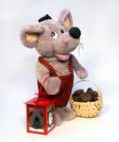 Rat met nieuwe jaarlantaarn royalty-vrije stock foto's