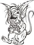 Rat with money - cartoon Stock Photography