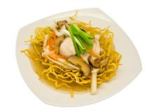 Rat-na, Thai-Chinese style food Royalty Free Stock Images