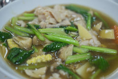 Rat Na With Vegetable, Thailand Food Stock Photos