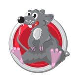 rat Oriënteer horoscoopteken in cirkel Chinese symbolen Royalty-vrije Stock Foto