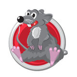 Rat. Orient horoscope sign  in circle. Chinese symbols. Royalty Free Stock Photo
