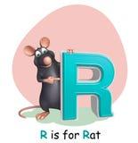 Rat pet animal with alphabet. 3d rendered illustration of Rat pet animal with alphabet royalty free illustration