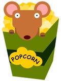Rat and popcorn Stock Photo
