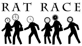 Rat race. Engaging in the daily and never ending rat race at work Royalty Free Stock Images