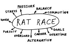 Rat race abstract Stock Image