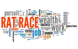 Rat race vector illustration