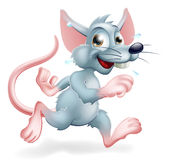 Rat Race Illustration. Illustration of a cartoon rat character running, a conceptual illustration for the rat race perhaps Stock Images