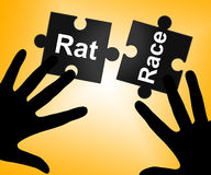 Rat Race Means Lifestyle Worked And Drudgery Royalty Free Stock Photo