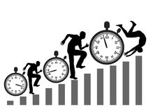 Rat Race. Racing against the clock can be fatal Royalty Free Stock Photo