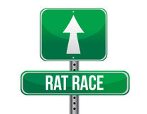Rat race road sign illustration design Stock Images