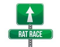 Rat race road sign illustration design Stock Images