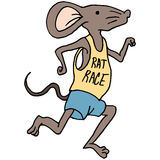 Rat race runner Royalty Free Stock Images