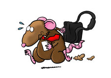 Rat in Race. Rushing to work Royalty Free Stock Photography