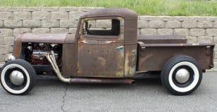 Rat Rod. The side of a rusty rat rod Stock Photo