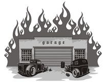 Rat rods garage Royalty Free Stock Photos