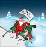 Rat and Santa Royalty Free Stock Images