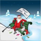 Rat and Santa vector illustration