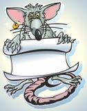 Rat &  scrol Stock Image