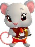 Rat sheriff character Royalty Free Stock Photo