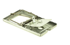 Rat trap. With white background Stock Photo