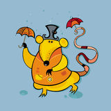 Rat under the rain. To see more cute rats, please visit my gallery Stock Illustration
