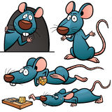 Rat. Vector illustration of Cartoon Rat Character Set Stock Photos